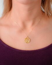 Tree of Life Necklace New Hammered Vermeil Gold cutout Design Tree Of Life Charm