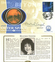 18 JANUARY 2000 ABOVE AND BEYOND BENHAM SMALL SILK FDC SIGNED HEATHER COUPER