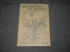 Boy Scout Handbook For Boys, 1911 printing , hardback          k3