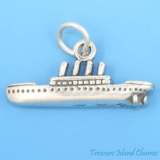 Titanic Ocean Liner Cruise Ship 3D .925 Solid Sterling Silver Charm MADE IN USA