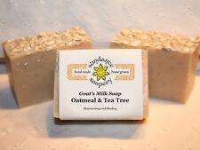 Homemade / Handmade Goat's Milk Soap OATMEAL & TEA TREE With Shea Butter