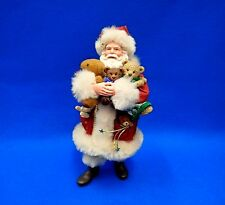 "Possible Dreams Clothtiques Santa ""Armful of Love"" - Santa holding Teddy Bears"
