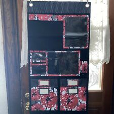 thirty one 31 Bags Bold Bloom Red Black Floral Wall Hanging Organizer w Pockets