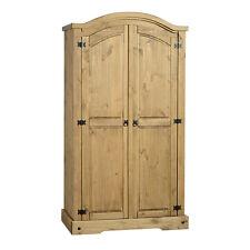 Corona 2 Door Wardrobe Distressed Waxed Pine