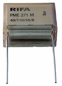 1 condensateur RIFA PME 271 M X2 0,47µF 0.47µF 470nF 470n 275V 25.4mm SH 250V MP