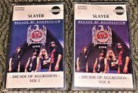Slayer – Decade Of Aggression Live. 2 VG Cassette Tapes. Play Well Thrash Metal