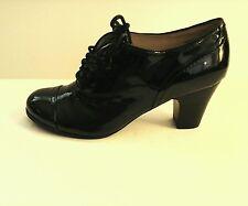 Nine West Women's Black Patent Leather Granny Style Heels size 6.5 M 60517-3 S3