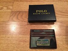 Polo Ralph Lauren RL nylon leather camo camouflage army military wallet id card