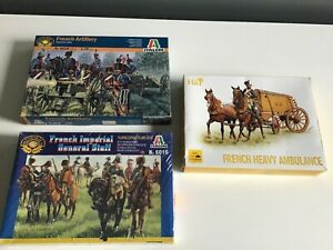 Italeri & HaT 1/72 scale plastic toy soldiers Napoleonic French 3 boxes mixed