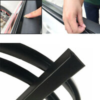 8M Car Window Door Sealed Strips V Type Weatherstrip Black Rubber Universal