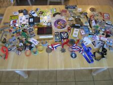 ESTATE LOT:  JEWELRY, KNIVES, MARBLES, SPORTS CARDS, STUBS, ELVIS, TOKENS/MEDAL
