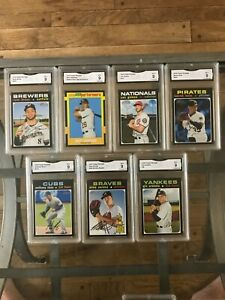 2020 Topps Heritage Graded cards Mint condition GMA 9 Pick a card, Braun, Soroka