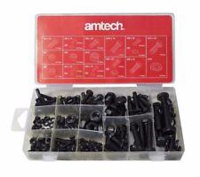 240 PC Nut & Bolt Washer Lock Set M4 M5 M6 M8 M10 in Storage Case, Amtech S6230