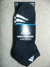 Adidas Climalite Men's Cushioned Low Cut Socks 3pk Shoe Size 6-12