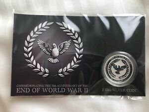 2020 10c Coin 75th Anniversary of the End of WWII 1/10oz 999 Silver BU
