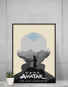 Avatar legend of Aang Poster Appa Wall Art Aang gang print design Size A4 A3 A2
