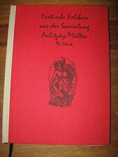 Exlibris Buch Erotische Exklibris 96 stück div. Künstler sammlung Aulitzky/Mülle
