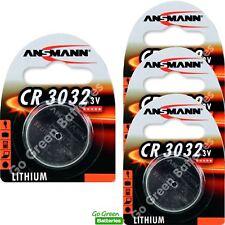 4 x Ansmann CR3032 3V Lithium Coin Cell Battery 3032, DL3032, BR3032, ECR3032