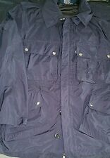 NWOT RALPH LAUREN POLO 100% NYLON COAT MEN'S LARGE DARK BLUE