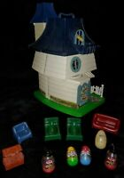 Vtg 1976 HASBRO Weeble Haunted House GHOST WITCH HAT KID Treasure Chest COMPLETE