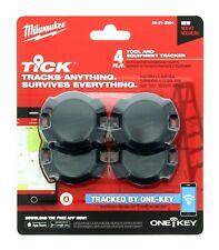 Milwaukee Tick Tool Equipment Tracker One-Key Bluetooth 4-Pack 48-21-2004