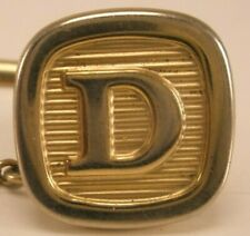 Lapel Pin Father's Day gift D Initials Monogram Letter Font Vintage