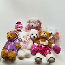 Set of 7, Breast Cancer Awareness, BEAN BAGS & STUFFED ANIMALS