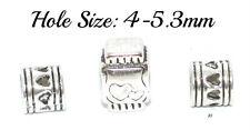 Set of 3 Tibetan Silver Beads Hair Braids Dreads Dreadlocks Hole 4-5.3mm 10