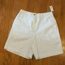 NEW Talbots White Perfect Shorts Womens size 8