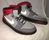 Nike Air Jordan 1 Alpha AJ1 Outdoor 487489-001 Silver Varsity Red Mens Size 10.5