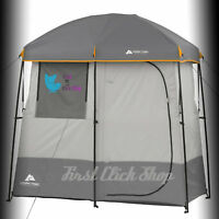 Shower Tent Solar Heated 2Room Non Instant Camping Cabin Hiking Outdoor Portable