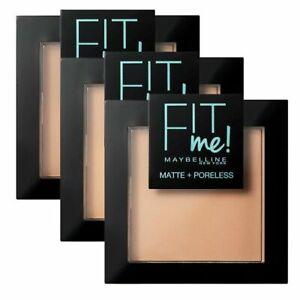 MAYBELLINE Fit me Matte + Poreless Powder 9g - CHOOSE SHADE - NEW Sealed
