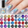 6ml BORN PRETTY Holographicss Silver Nail Polish Glitter  Nail Art Varnish