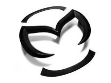 04-15 MAZDA3 / MAZDASPEED3 EVIL 'M' FRONT GRILLE EMBLEM BADGE - GLOSS BLACK