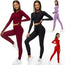 Sportanzug Trainingsanzug Hausanzug Leggings Hose Sweatshirt OZONEE 22060 Damen