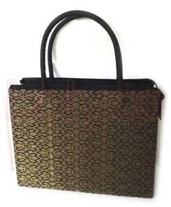 Handbag Gold Black Songket - New