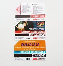 3 SCHEDE TELEFONICHE TELECOM DI CUI 1 CON TIRATURA LIMITATA SOLO 165.000! COLLEZ