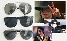 3 PCS Punk Stree MJ Michael Jackson Classic Frog Silver Drive Mirror Sunglasses