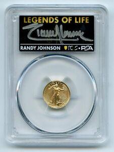 2021 $5 American Gold Eagle Type 2 PCGS PSA MS70 Legends of Life Randy Johnson
