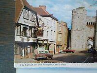 Vintage POST CARD  THE FALSTAFF INN & WEST-GATE CANTERBURY LONDON