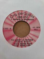 Orquesta De Guiros De Puerto Rico El Nene De Pancho  VG+ 45RPM #2305