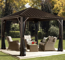 Gazebos On Sale Metal And Canopies Kits Patio Roof Screened Backyard Bbq Outdoor