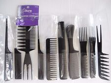 Diane 10 Piece Professional Styling Comb Set - Essential Salon Tools