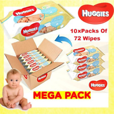 Huggies Pure Baby 72 Wipes - Pack of 10