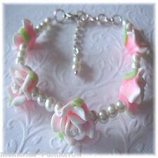 Rose Pearl Bracelet, Bridesmaid Gift, Flower Girl, Weddings