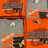 NHL Team Apparel PHILADELPHIA FLYERS Hockey T-Shirt Authentic Licensed Pick Size