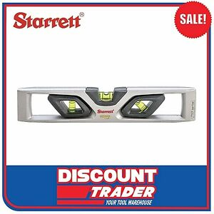 "Starrett EXACT Magnetic 254mm 10"" Die Cast Aluminium Torpedo Level KLTXP10-N"