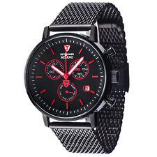 DETOMASO Milano Heren Horloge Chronograaf Milanaise Zwart Dag En Datum Nieuw
