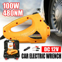 "100W 1/2"" 12V Electric Impact Wrench Car Torque Driver Tools 480Nm With"
