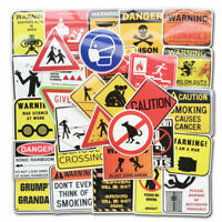 50Pcs Warning Laptop Sticker Bomb Luggage Helmet Skateboard Vinyl Decal Pack Lot